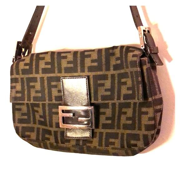 b2f00914a676 Fendi Handbags - Authentic Fendi Zucca Baguette Bag great condition